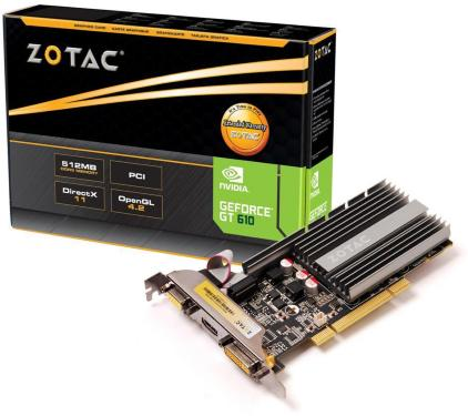 Zotac GeForce GT 610 512MB PCI