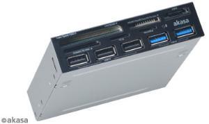 Akasa USB 3.0 card reader with eSATA and USB panel