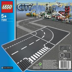 LEGO City T-Junction Curved Road Plates