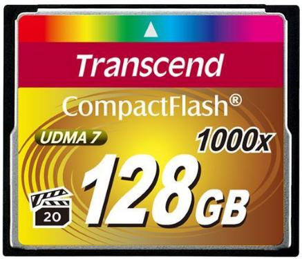 Transcend Compact Flash 1000X 128GB