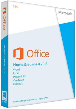 Microsoft Office Home & Business 2013 Engelsk