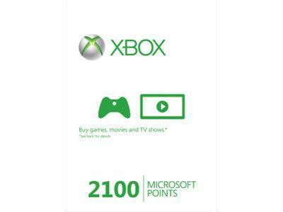 Microsoft Xbox 360 Live 2100 Points