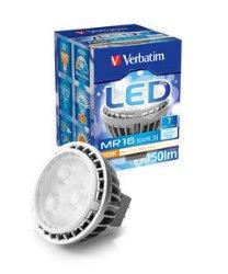 Verbatim LED GU5.3 7W 450lm varm hvit