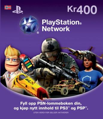 Sony PSN Live Card 400 kr