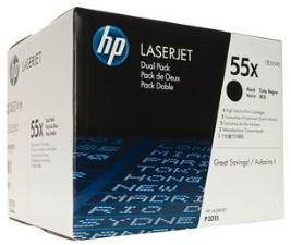 HP 55X Black Dualpack