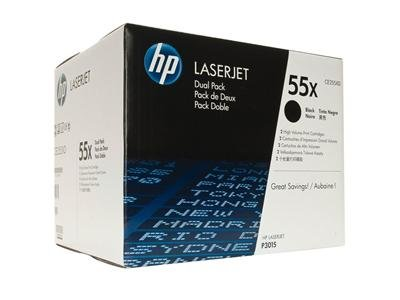 HP 55X Black Dualpack