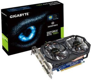 Gigabyte GeForce GTX 750 Ti OC 2GB Windforce 2X