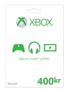 Microsoft XBOX LIVE CARD 400 NOK