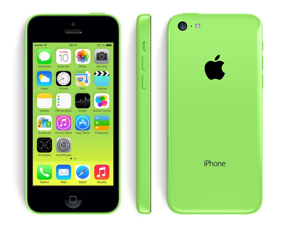 sammenlign iphone 5 og 5c