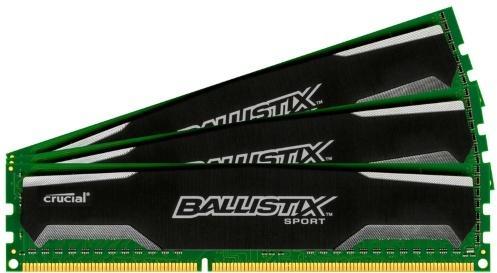 Crucial Ballistix Sport DDR3 1600MHz 12GB CL9 (3x4GB)