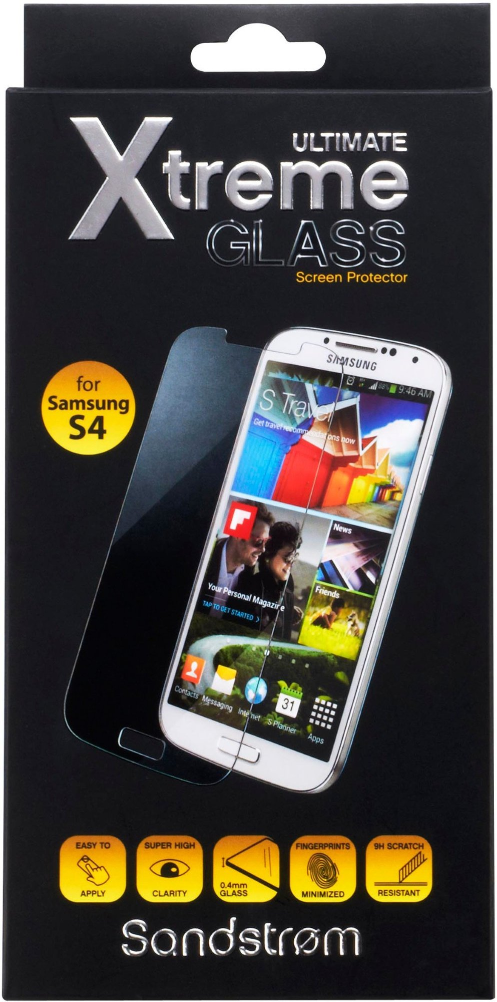 Sandstrøm Ultimate Xtreme skjermbeskytter for Galaxy S4