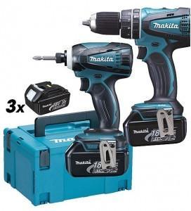 Makita DLX2012JX1 drill+slagtrekker (3x3,0Ah)