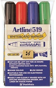 Artline Whiteboardpenn 519 Sett