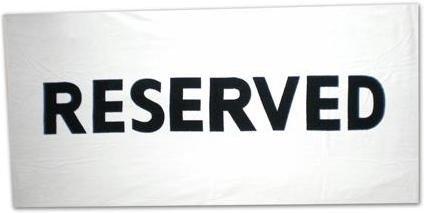 Gadget Reservert beach håndkle