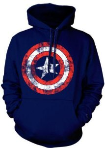 Marvel Captain America Distressed Shield (Herre)