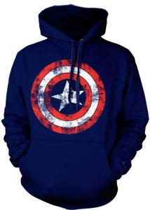Marvel Captain America Distressed Shield (Herre)