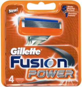 Gillette Fusion Power 4 stk