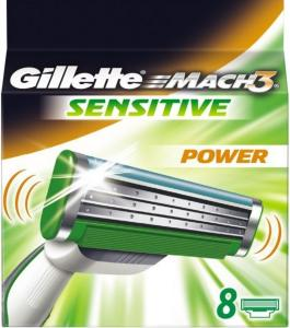 Gillette Mach3 Sensitive Power 8 stk