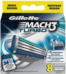 Gillette Mach3 Turbo 8 stk