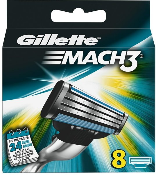 Gillette Mach3 8 stk