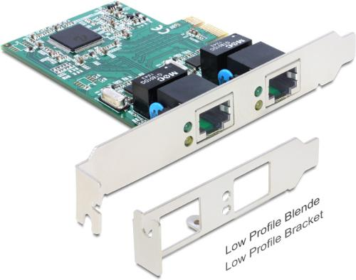 Delock PCI Express-kort 2x Gigabit LAN