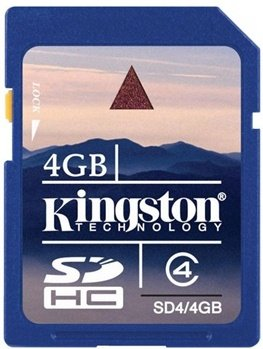 Kingston SDHC 4GB Class 4