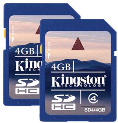 Kingston SDHC 4GB Class 4 (2-pack)