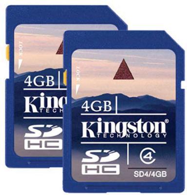 Kingston SDHC 4GB Class 4 (2-pack)
