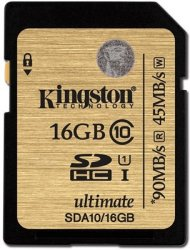 Kingston Ultimate SDHC 16GB Class 10