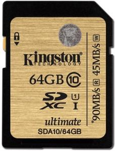 Kingston Ultimate SDHC 64GB Class 10