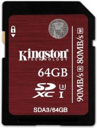 Kingston U3 SDXC 64GB UHS-I