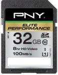 PNY Elite Performance SDHC 32GB Class 10