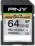 PNY Elite Performance SDXC 64GB Class 10