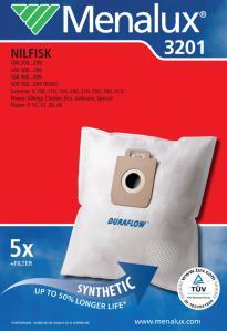 Menalux støvsugerposer 3201