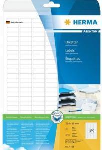 Herma Etiketter Premium 25,4X10mm A4