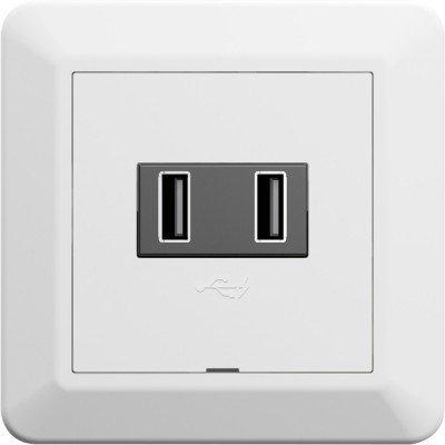 Elko RS16 USB-lader dobbel (6630099)
