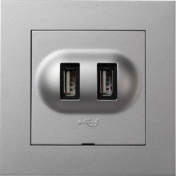Elko Plus USB-kontakt Alu 6630096