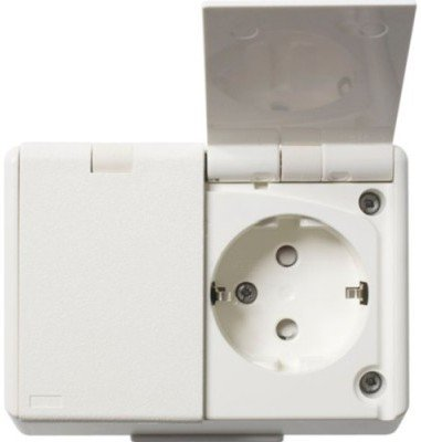 Elko dobbel stikkontakt påvegg IP44 1530661