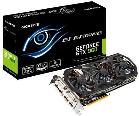 Gigabyte EVGA GeForce GTX 960 FTW ACX