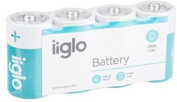 iiglo D Batteri 4pk