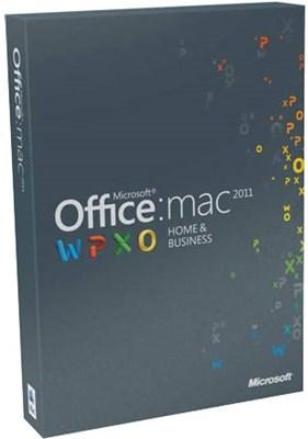 Microsoft Office Mac Home & Business 2011 Engelsk