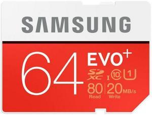 Samsung Evo+ SDXC 64GB UHS-I