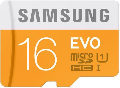 Samsung Evo micro SD card 16GB Class 10