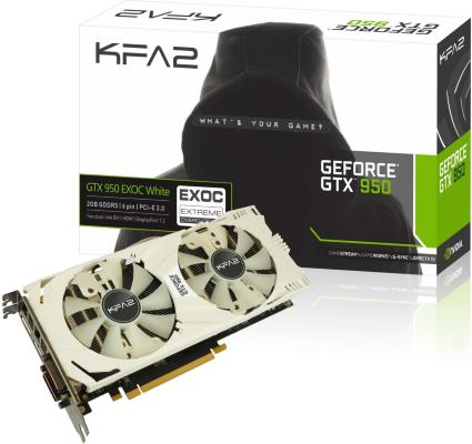 Gainward KFA2 GeForce GTX 950 EX OC W 2GB