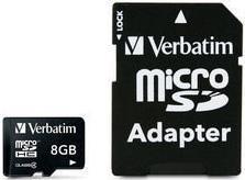 Verbatim microSDHC 8 GB Class 4