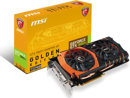 MSI GeForce GTX 980 Ti Gaming 6GB Golden Edition