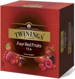 Fire røde frukter