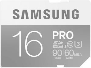 Samsung Pro SDHC 16GB UHS Class 3