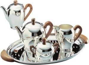 Alessi Bombe Applewood Kaffekanne