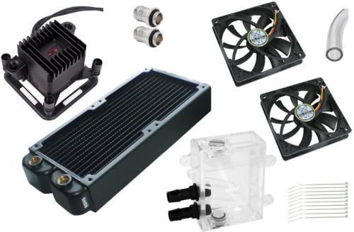 Techbay Performance Compact Vannkjølingsett 2x120-45